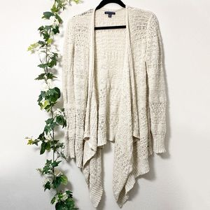 American Eagle Knit Asymmetrical Open Cardigan